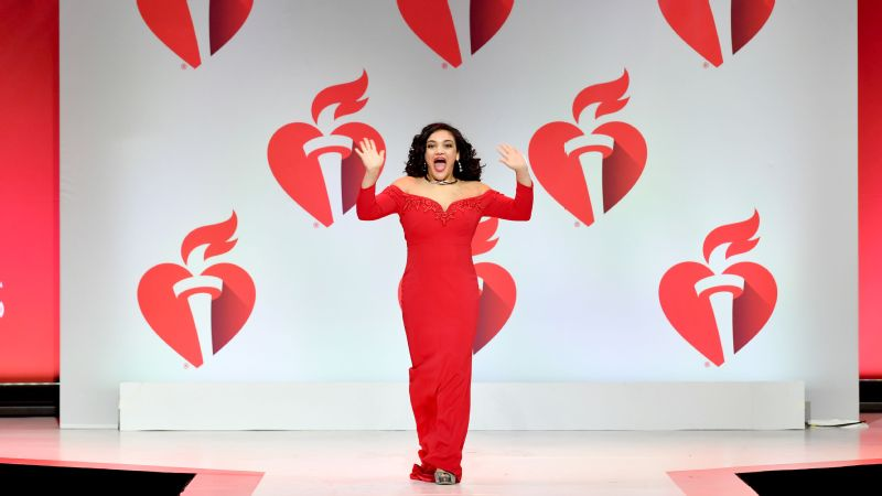 Laurie Hernandez looked like a seasoned pro walking the runway at the American Heart Association's Red Dress Collection presentation.