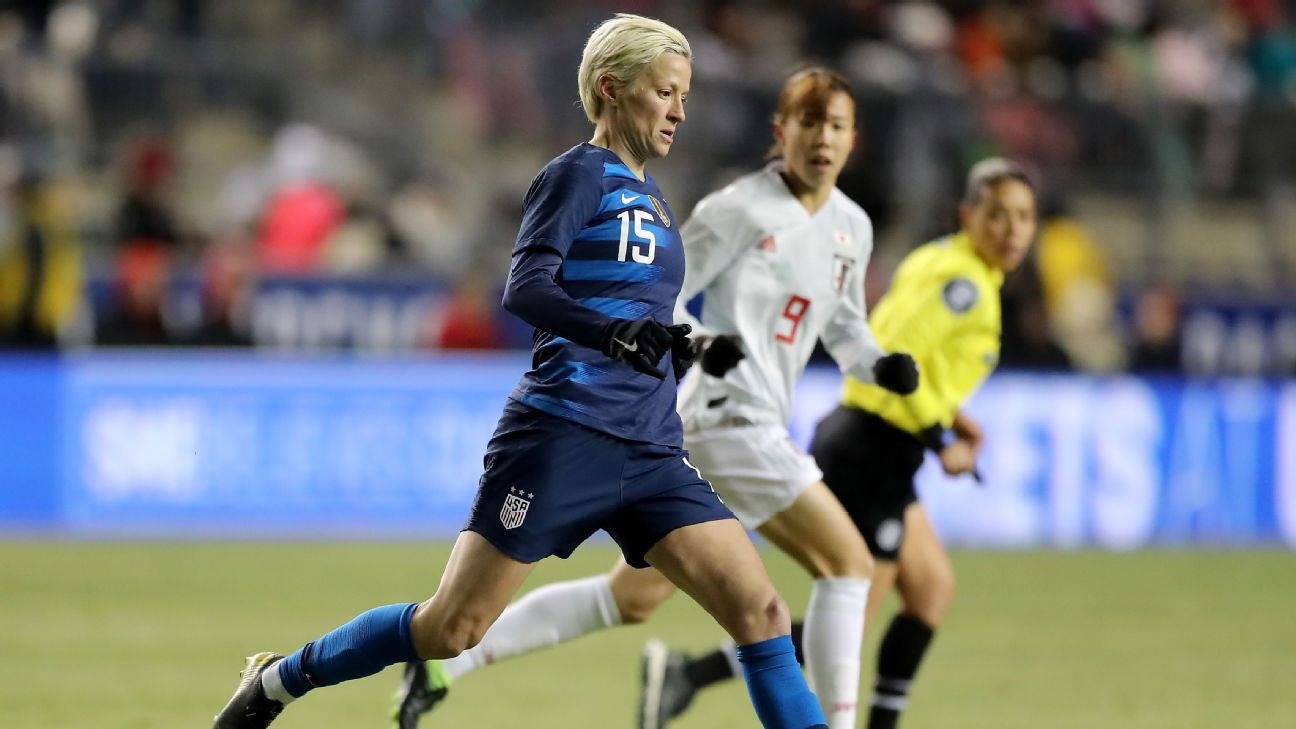Megan Rapinoe and the U.S. women's team settled for a 2-2 draw with Japan at their opening match of the SheBelieves Cup.