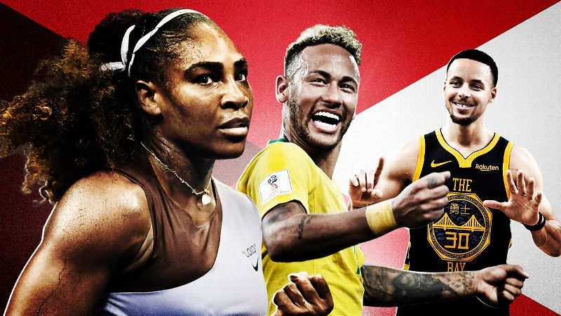 Serena Williams, Neymar, Stephen Curry