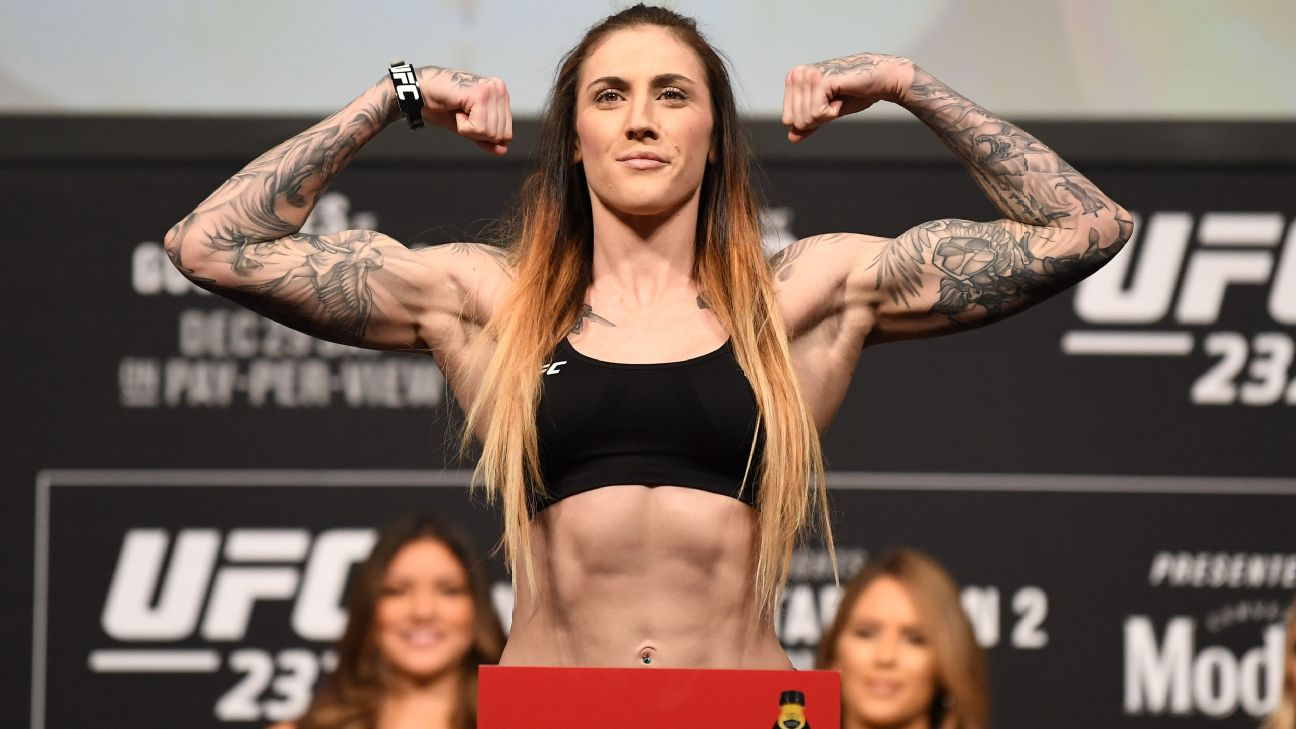 Megan Anderson will lose about 25 pounds each fight camp in order to fight at featherweight in the UFC.