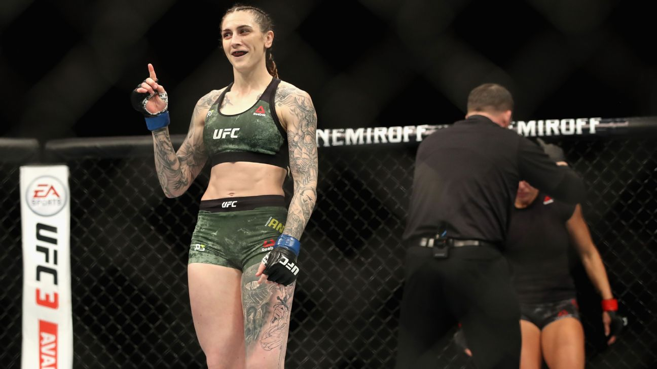 Megan Anderson is coming off a first-round TKO victory against Cat Zingano in December.