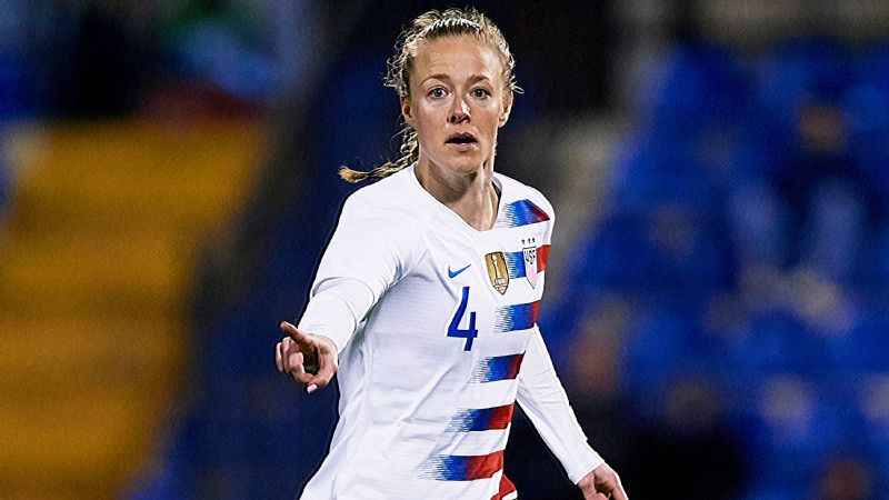 Veteran defender Becky Sauerbrunn, 34, played every minute of the 2015 Women's World Cup and is seeking a second consecutive title.