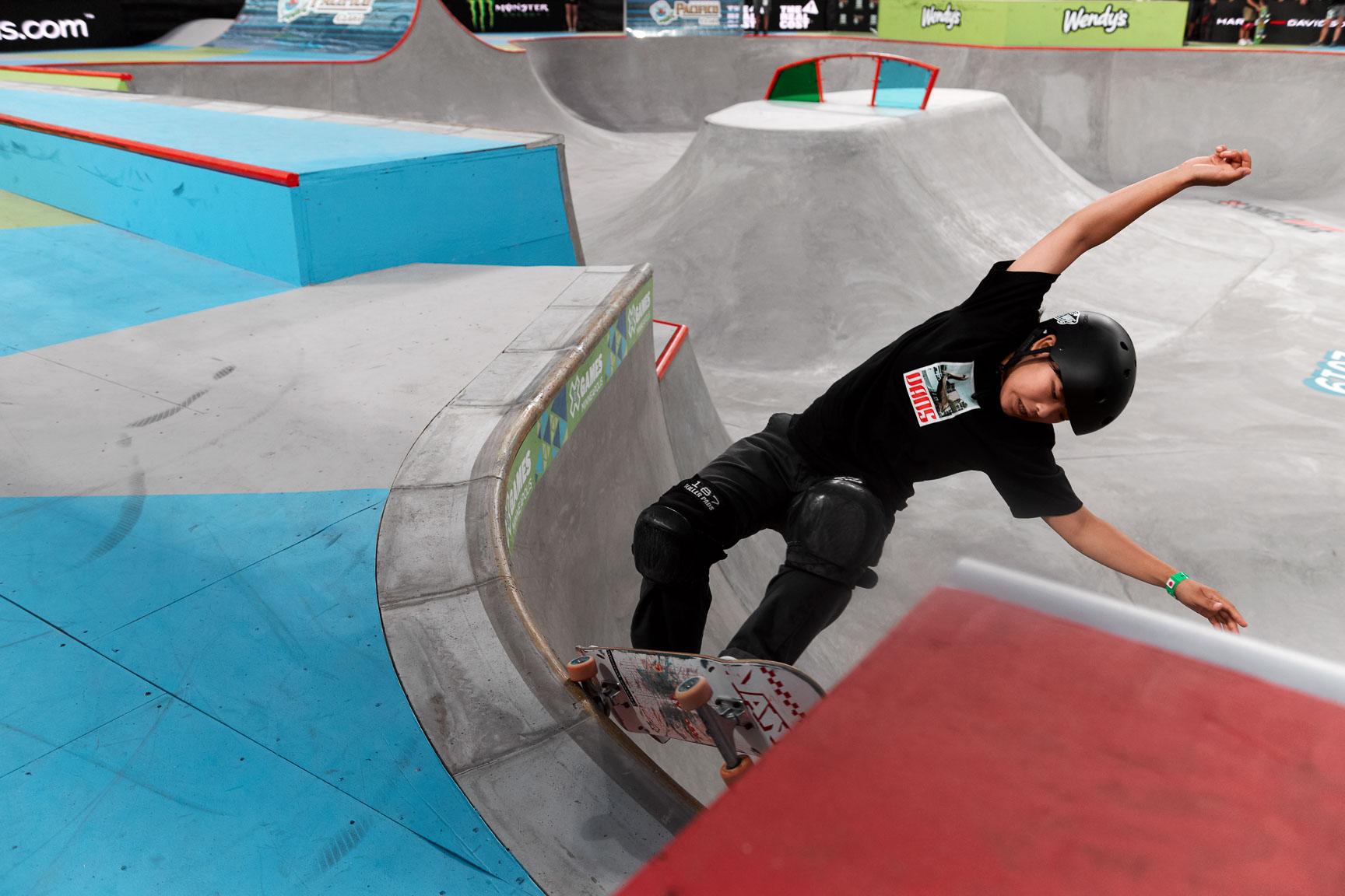 Mami Tezuka, Women's Skateboard Park Final