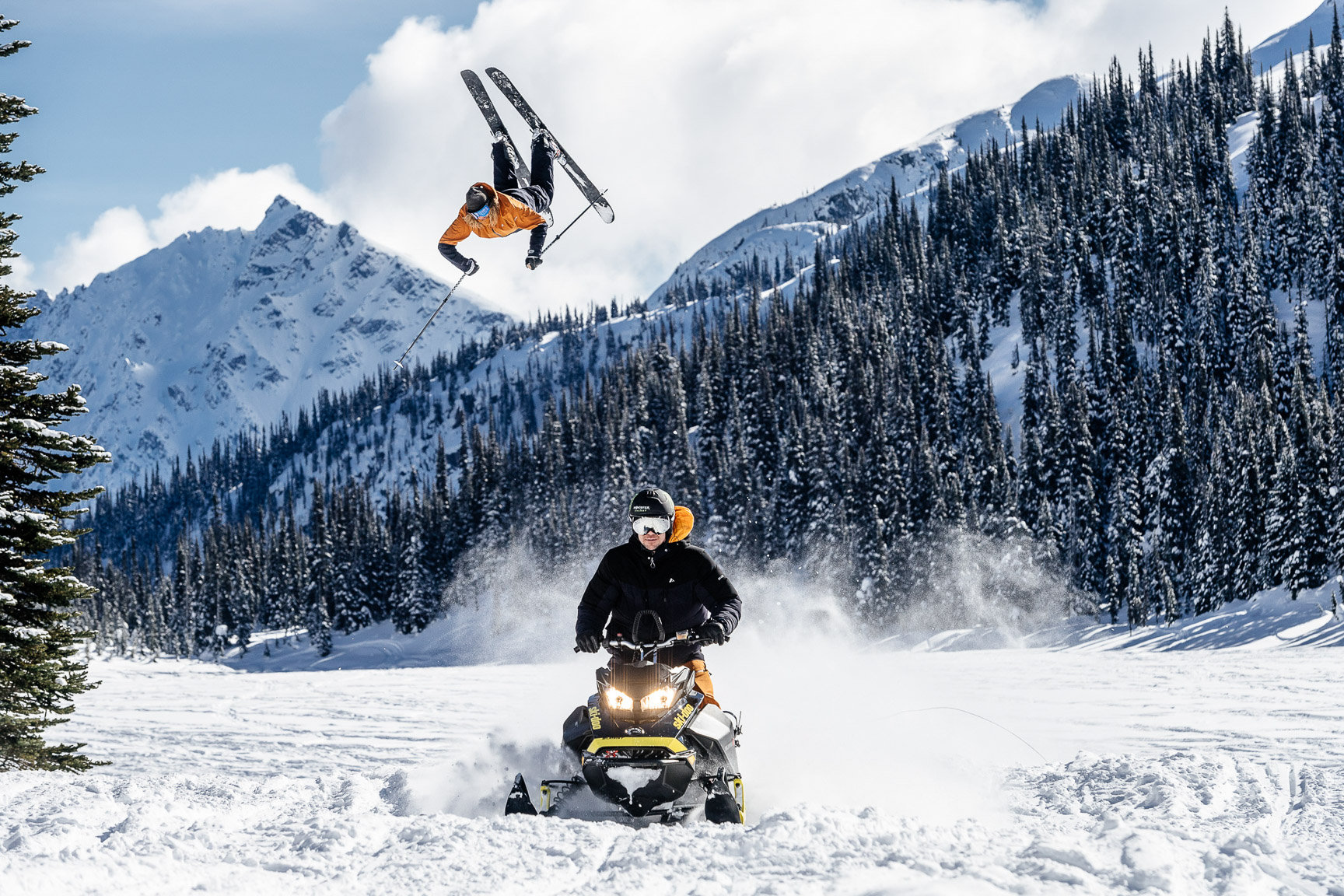 Banks Gilberti and Rory Bushfield. Pemberton, Canada