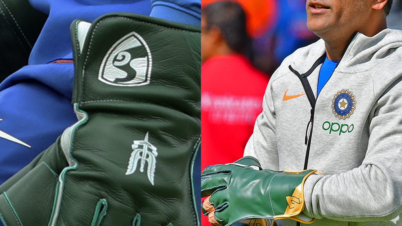 MS Dhoni sheathes dagger, complies with ICC's glove regulations