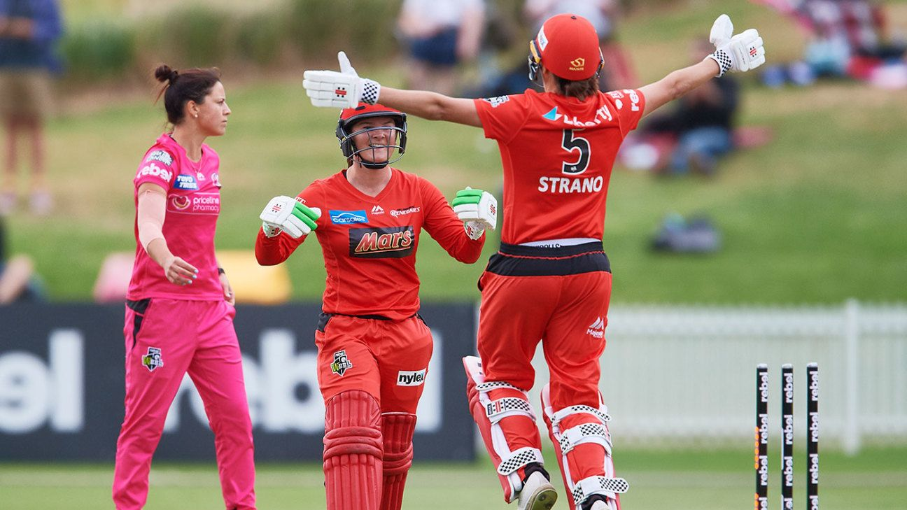 WBBL round-up: Webb's last-ball six helps Renegades pull off great escape