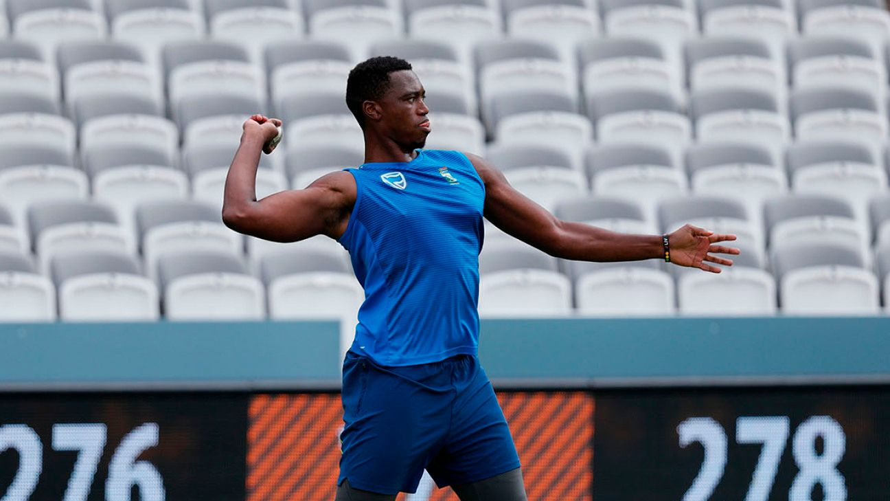 Lungi Ngidi has his game face on for England series after fitness trials | ESPNcricinfo.com - ESPNcricinfo