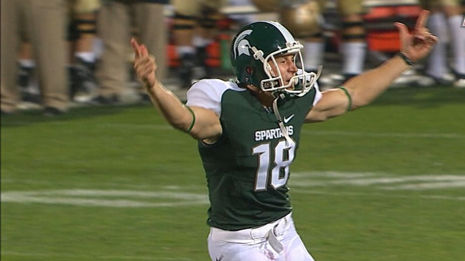 On this date: Sparty beats Notre Dame in OT on fake field goal - ESPN Video