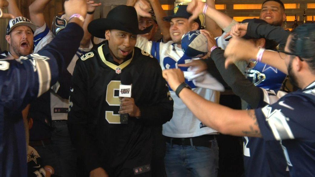huge discount 53c35 54921 Stephen A. trolls Cowboys fans in Dallas - ESPN Video