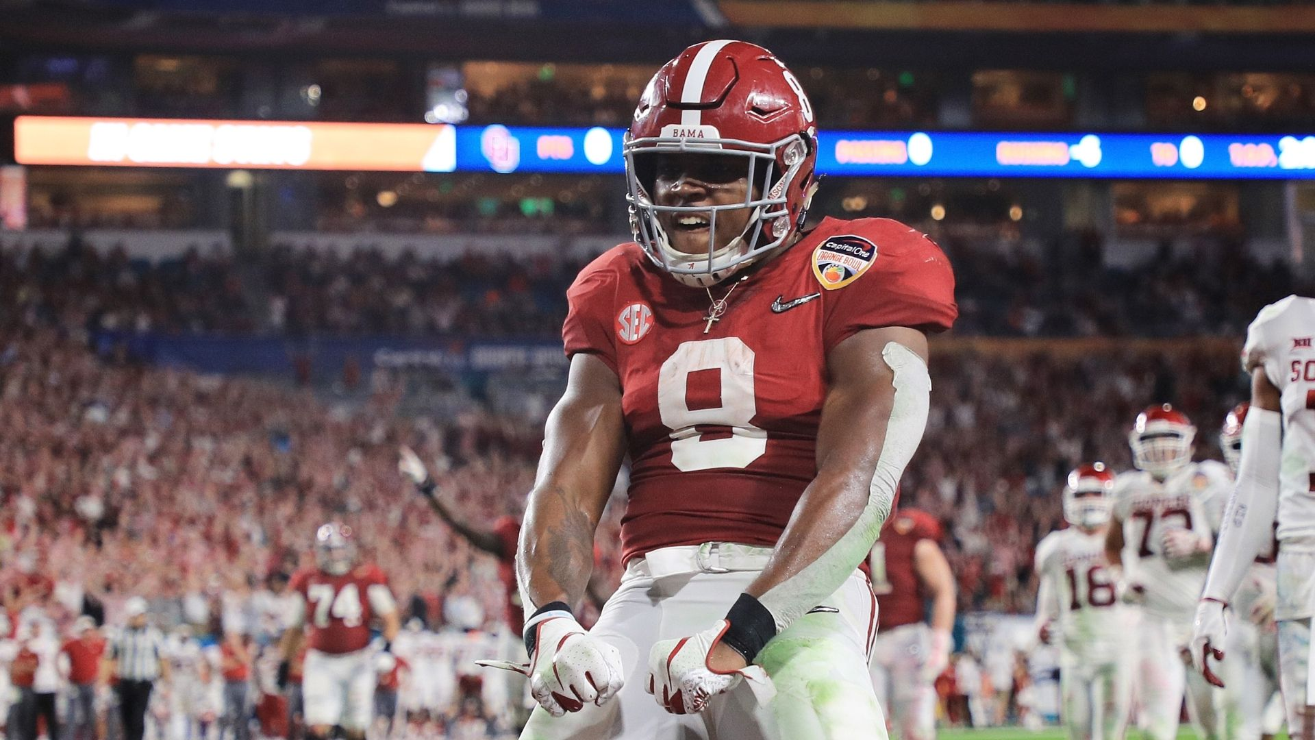 josh jacobs can simply run people over