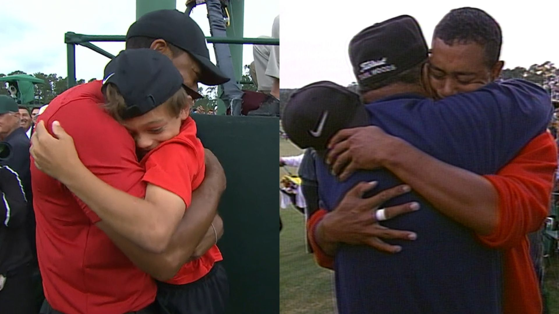 Tiger celebrates with family after another Masters win - ESPN Video