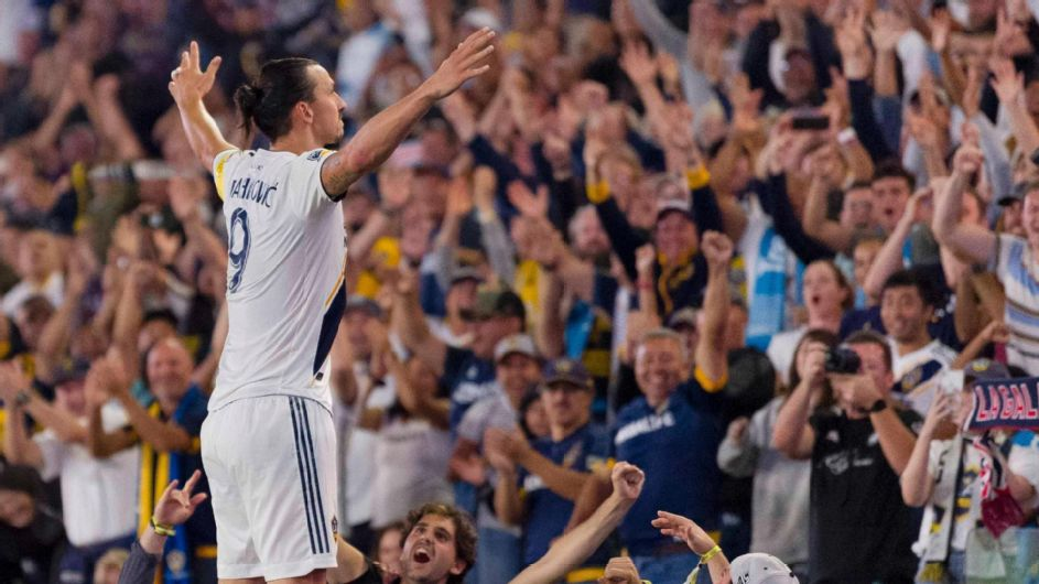 Zlatan makes history, Galaxy score 7 vs. Sporting KC - ESPN Video
