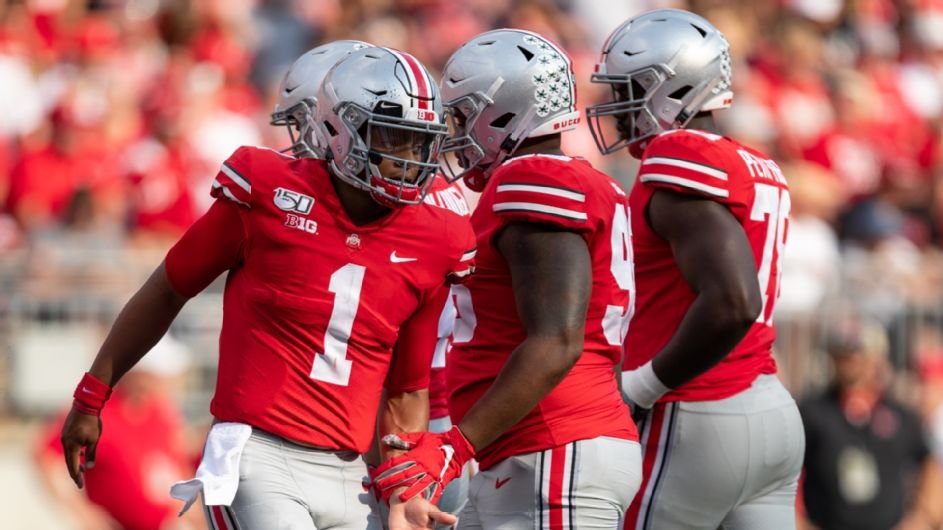 Justin Fields is all business at Ohio State