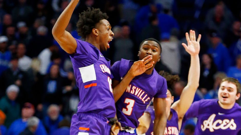 No. 1 Kentucky stunned at home by unranked Evansville