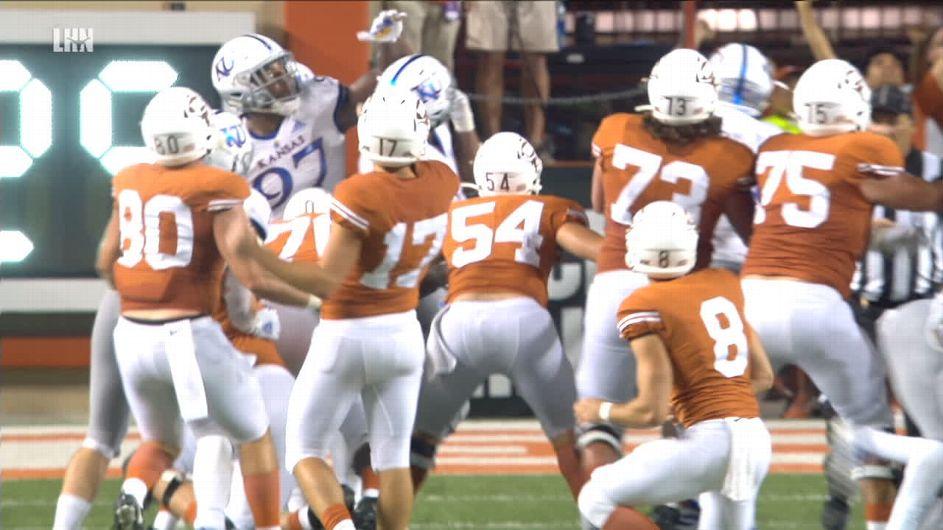 Texas beats Kansas with field goal as time expires - ESPN Video