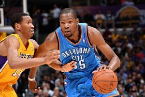 Kevin Durant, Thunder send Lakers to record 7th straight home loss
