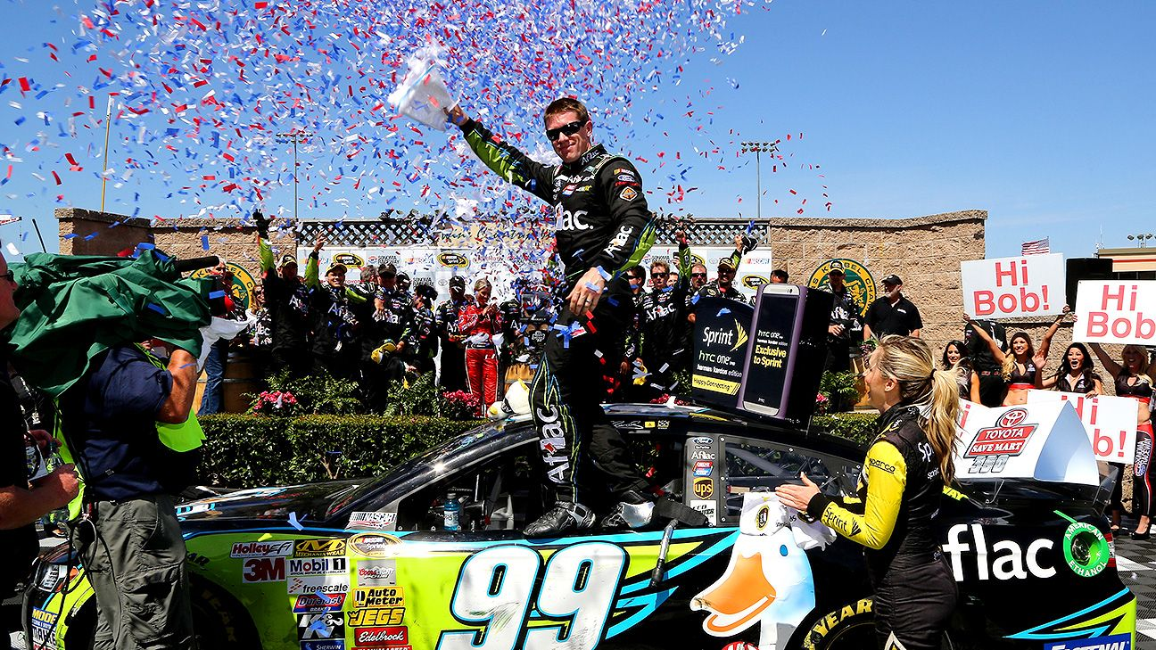 Carl Edwards gets first road victory
