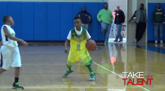 LeBron James' son shows his skills in Houston hoops