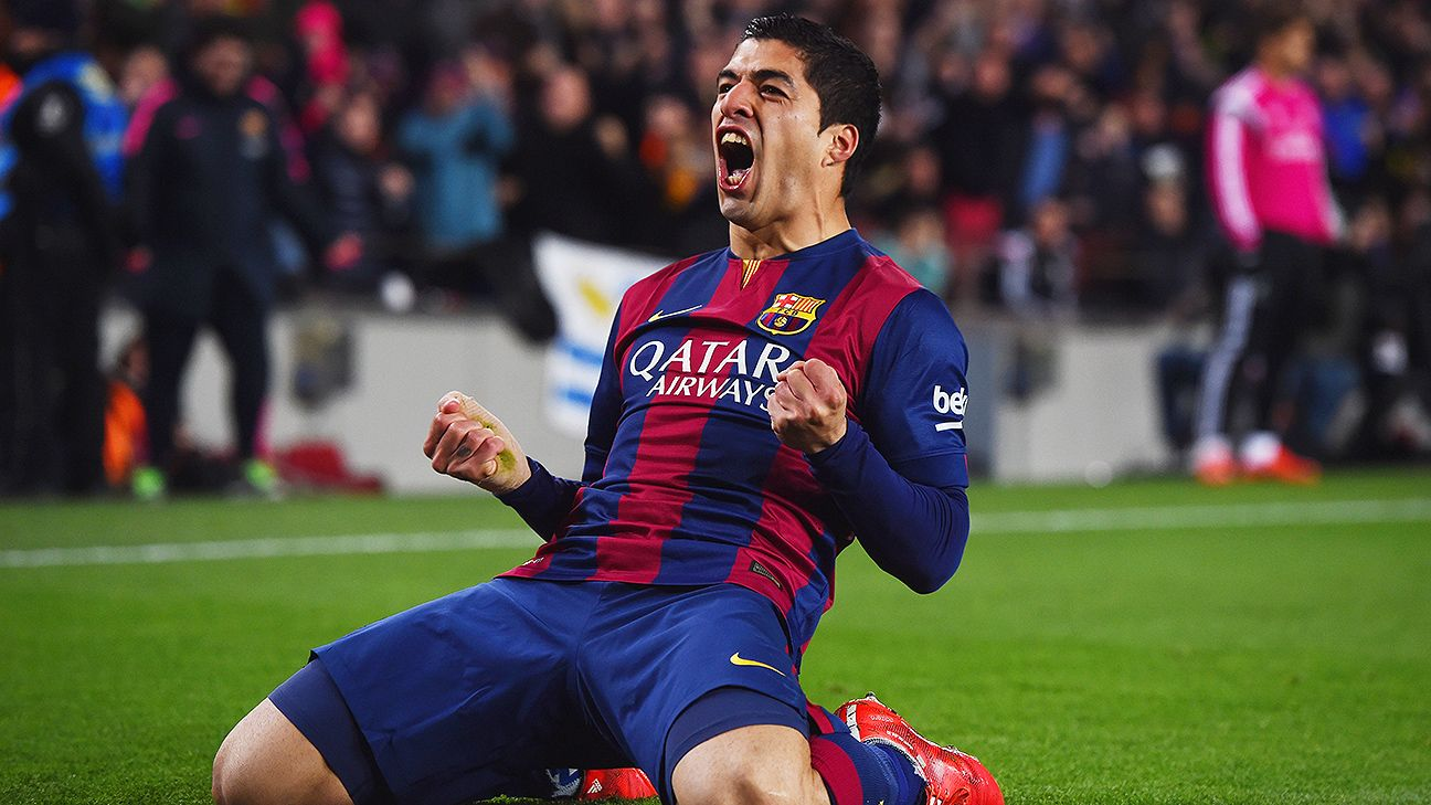Luis Suarez pushes Barcelona past Real Madrid to extend La Liga lead