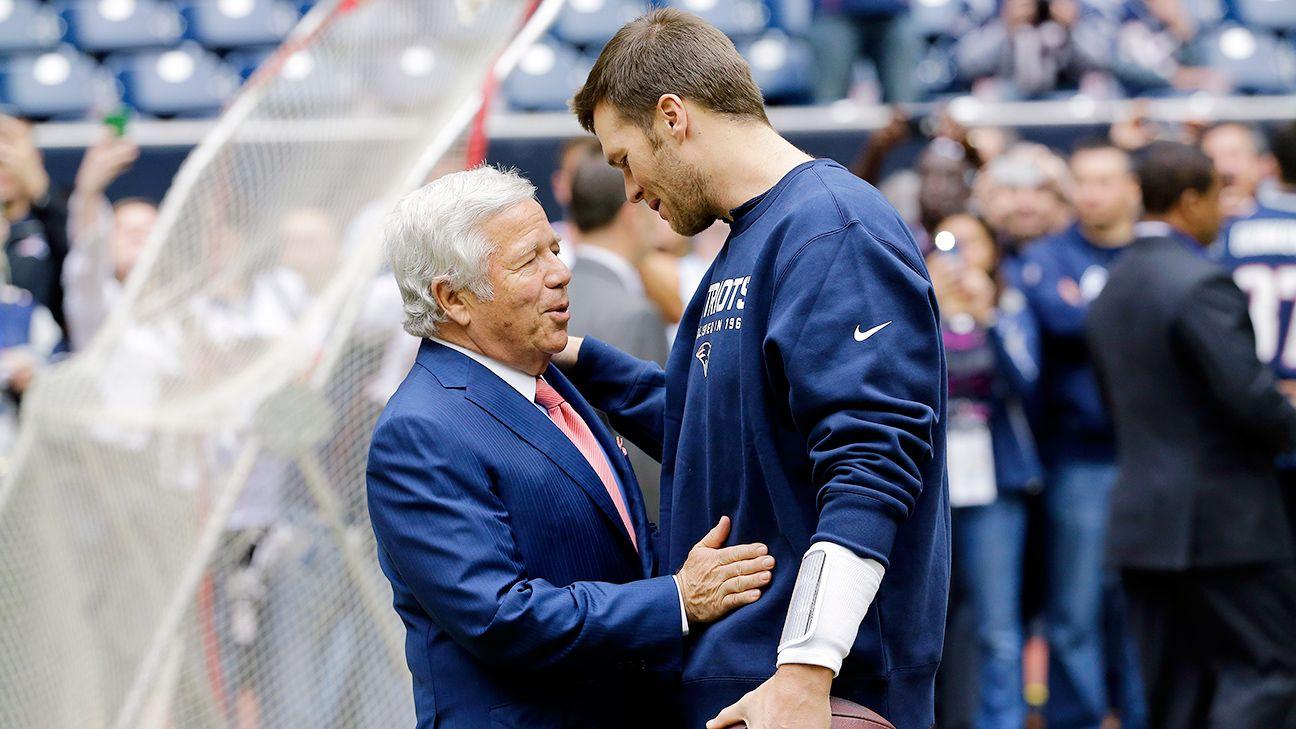 Kraft: 'Hope and prayer' is Brady returns to Pats