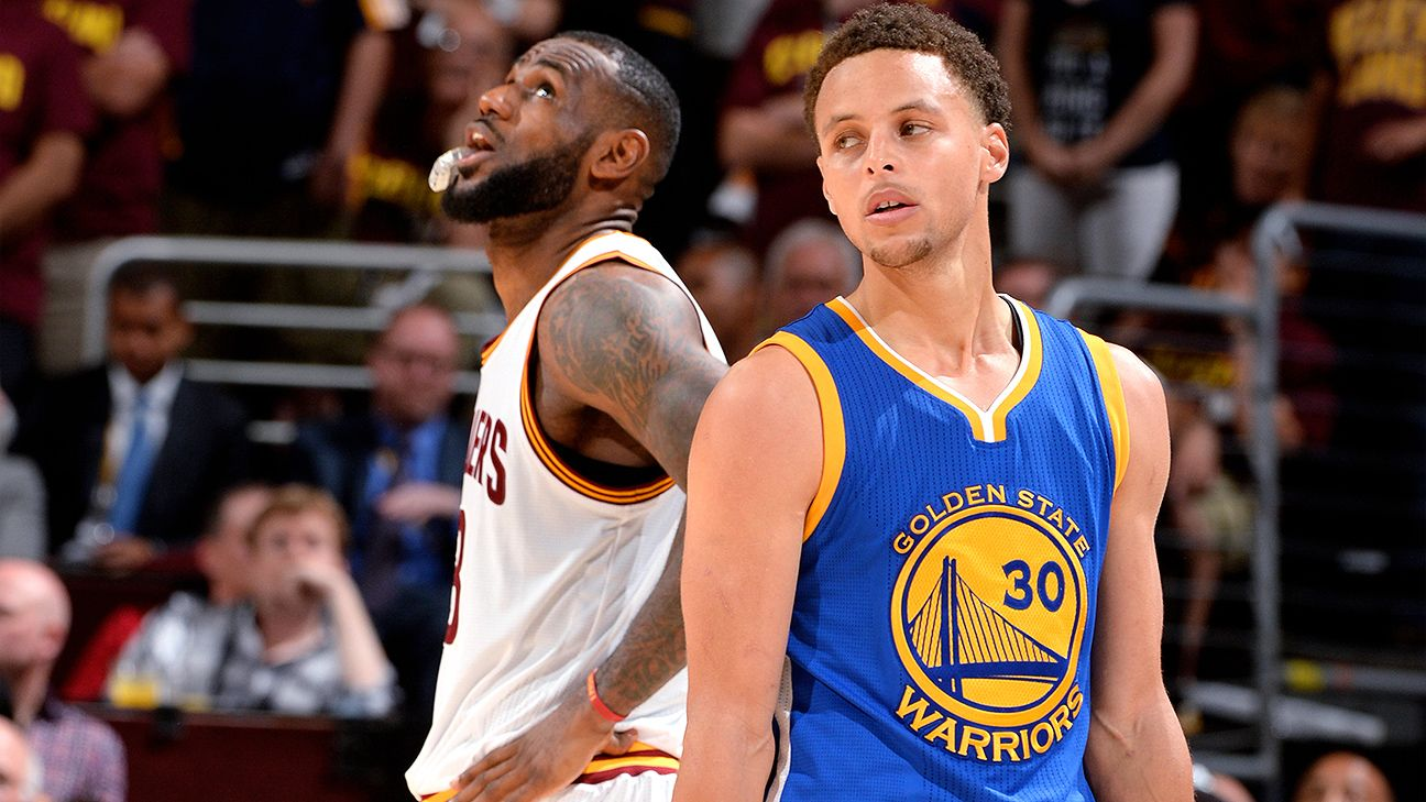 fc9b0d76 Stephen Curry of Golden State Warriors overtakes LeBron James of Cleveland  Cavaliers for NBA's top jersey