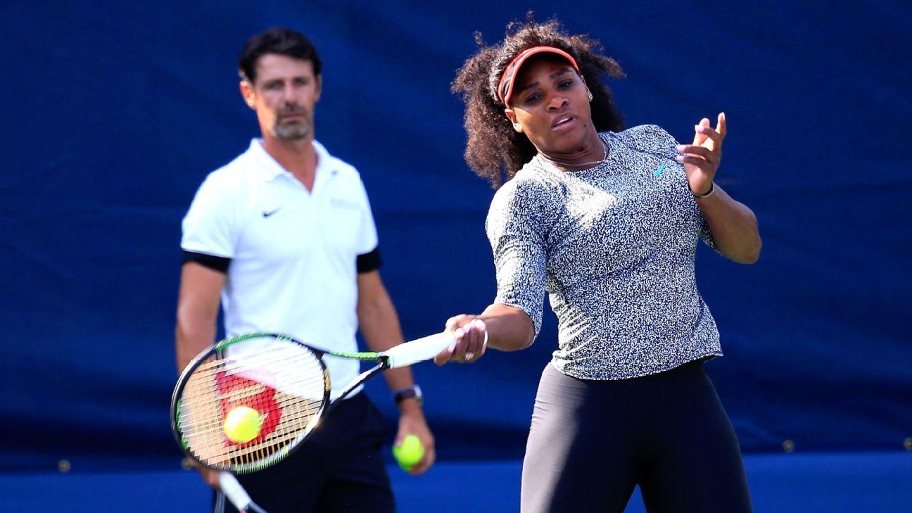 Serena Williams' coach says she has same knee issues as Rafael Nadal