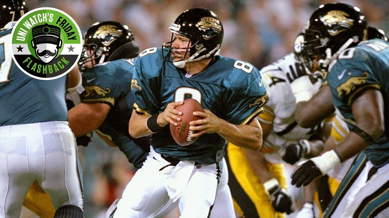 25d3c623a Uni Watch s Friday Flashback -- Jacksonville Jaguars struck gold with first  uniforms