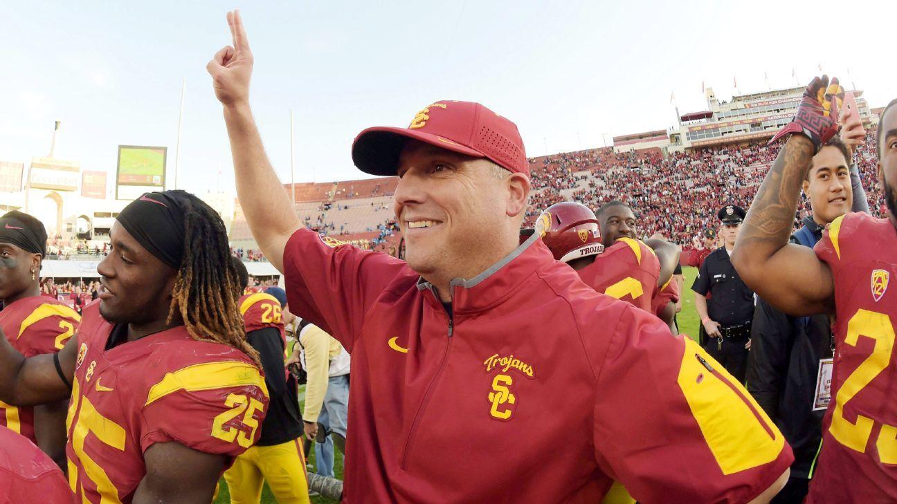 7f7b6f4bd38 Clay Helton named permanent coach of USC Trojans