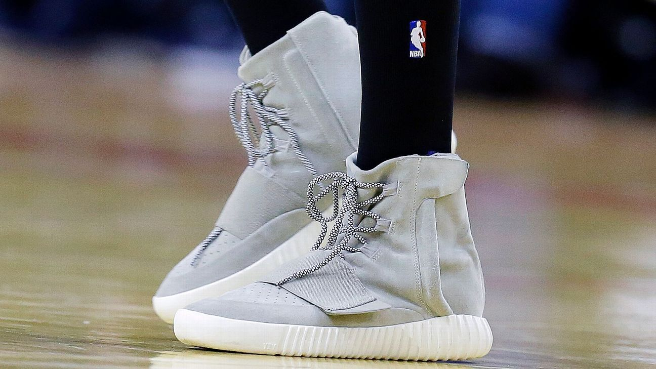 bc5fb8dcd240 Nick Young of Los Angeles Lakers wears Kanye West s lifestyle Yeezy shoes  in game