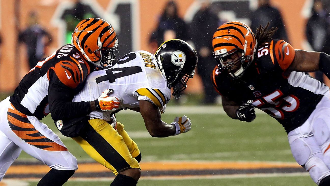 new concept 40ab2 0c8ec Burfict apologized in person for helmet shot to Antonio Brown