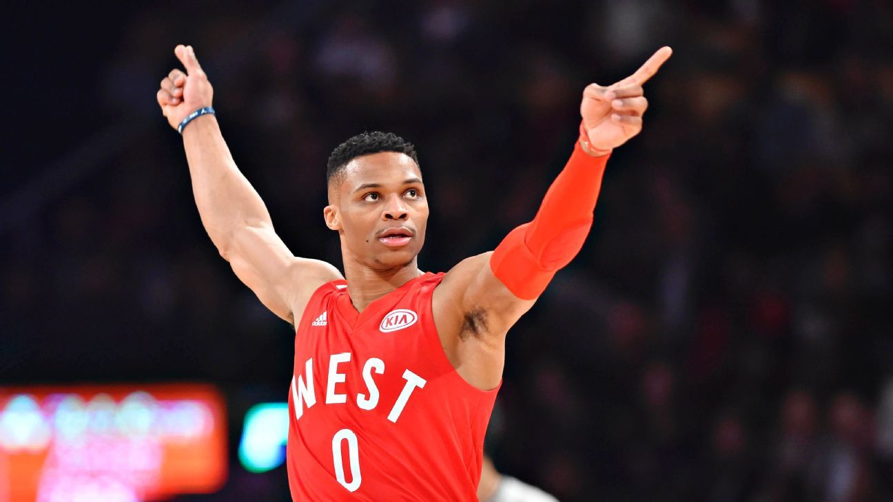 9de50cd6b95 2016 NBA All-Star Game -- Russell Westbrook of Oklahoma City ...