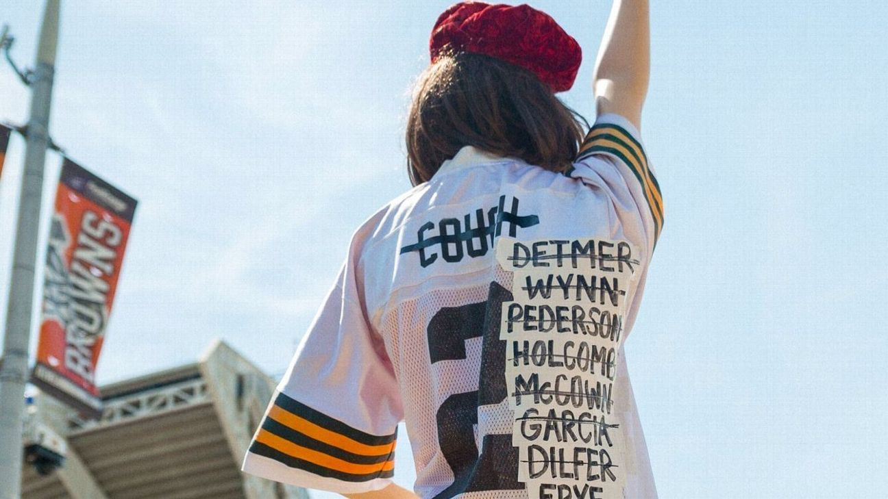 352fc59fa Owner of infamous Browns QB name jersey to retire it