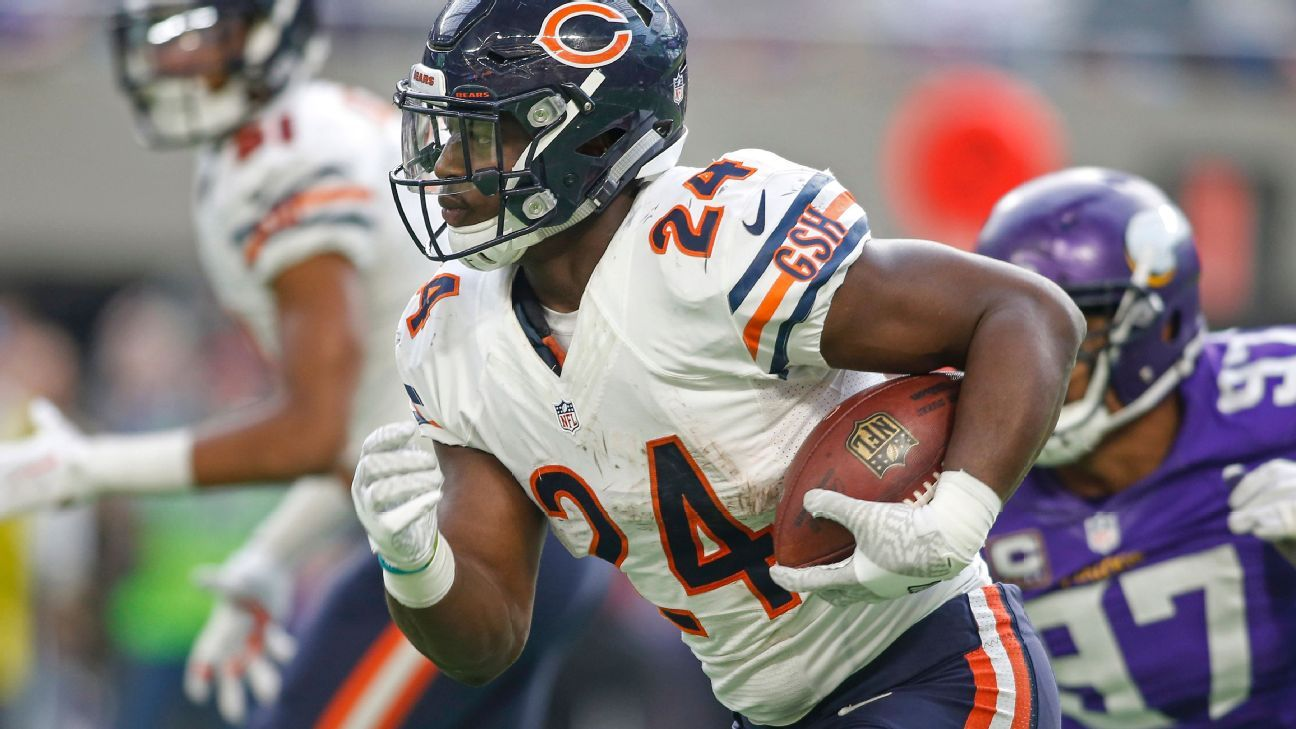 Jordan Howard has 18 rushing touchdowns over the past two seasons, tied for the third most in the NFL.