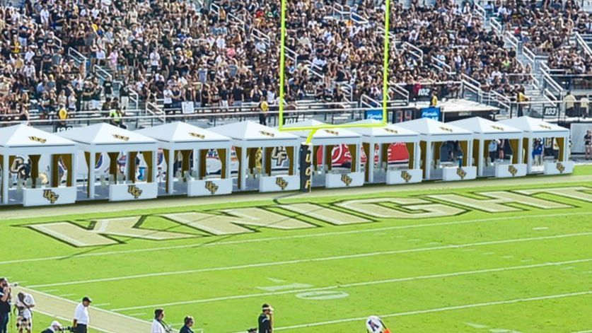 Ucf Knights Plan To Install Cabanas Behind End Zone To