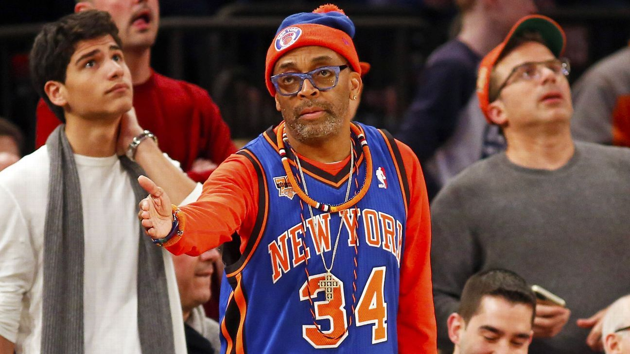 factory authentic a9289 125d9 Spike Lee questions why New York Knicks owner James Dolan ...