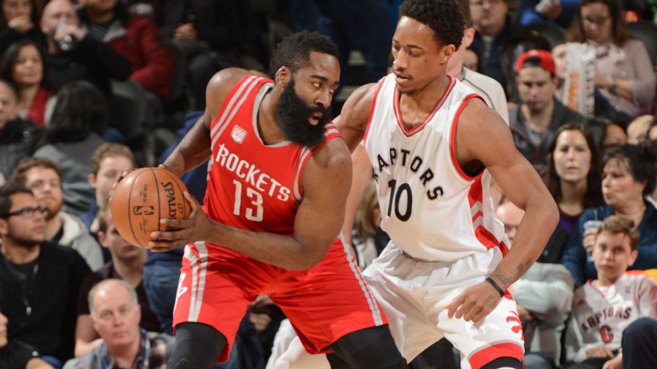 b070b869d8a4 DeMar DeRozan of Toronto Raptors says James Harden  lock  to win MVP