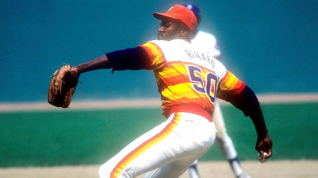 on sale e3846 7bbd6 The full story on Houston's iconic rainbow uniforms