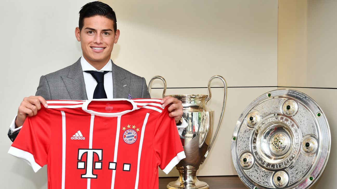 James Rodriguez I M Here To Win Titles And Improve Bayern Munich