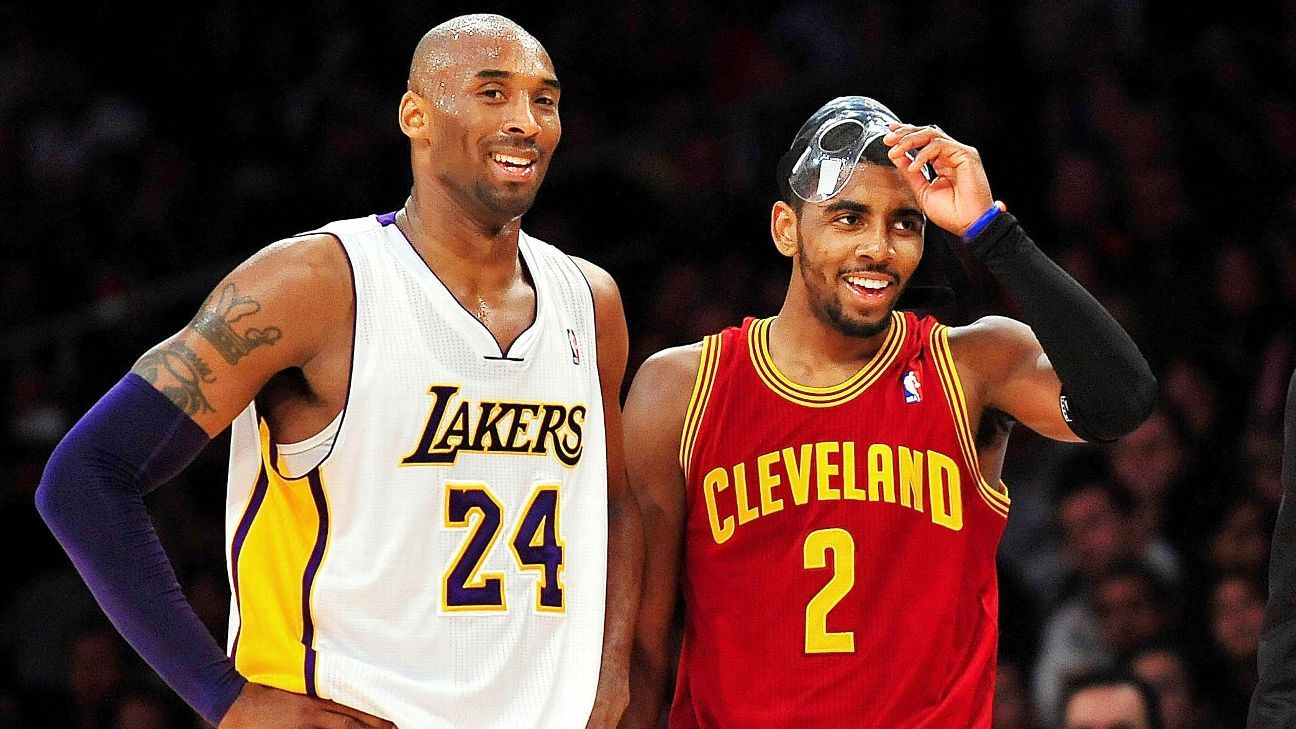 bed497e7cb4 Does Kyrie Irving have a Kobe Bryant or LeBron James problem  - NBA