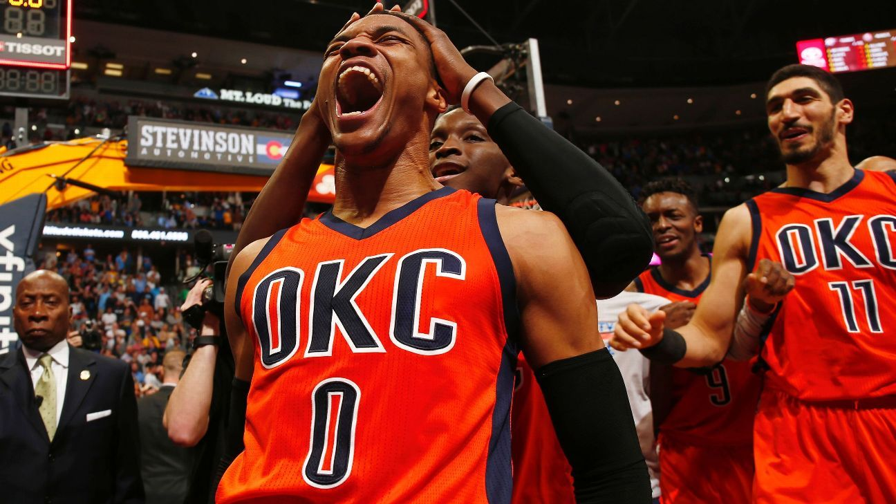 bed2d838622f Russell Westbrook of Oklahoma City Thunder agrees to 10-year extension with  Nike s Jordan Brand