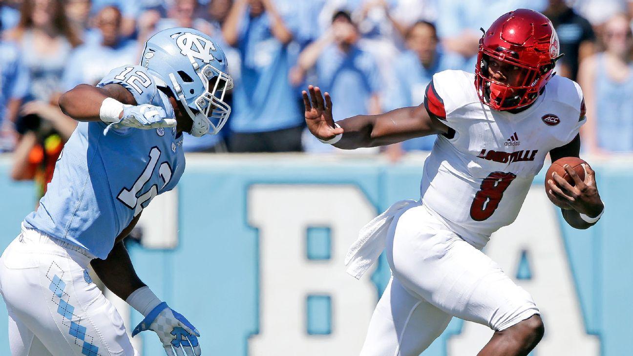 9b94f2bf3 Louisville Cardinals Lamar Jackson preps likely last college football game