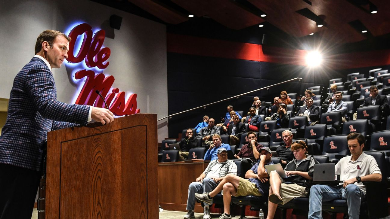 Ross Bjork, who had served as Ole Miss' athletic director for the past seven years, has been named athletic director at Texas A&M. Bjork replaces Scott Woodward, who left for the same role at LSU in April.