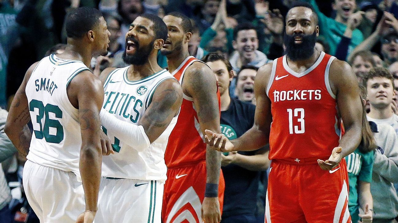 detailed look d8f8d d7431 James Harden of Houston Rockets critical of late-game calls ...