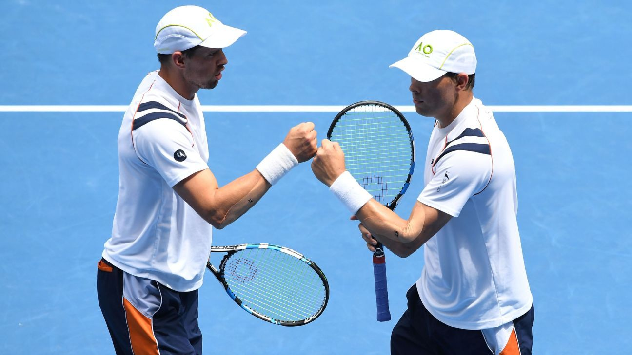 Twins Bob Bryan, Mike Bryan to retire after 2020 US Open