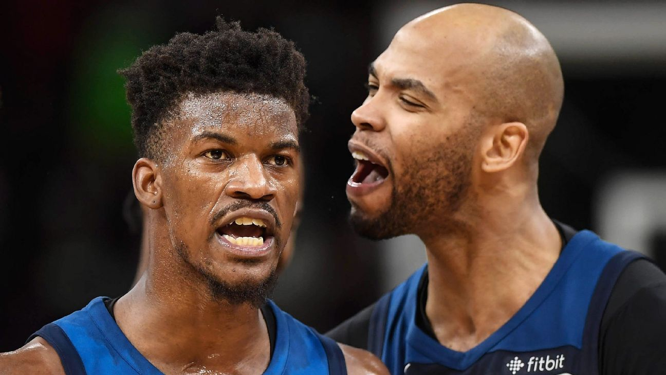 Taj Gibson And Jimmy Butler Return To Chicago Bulls With Mixed