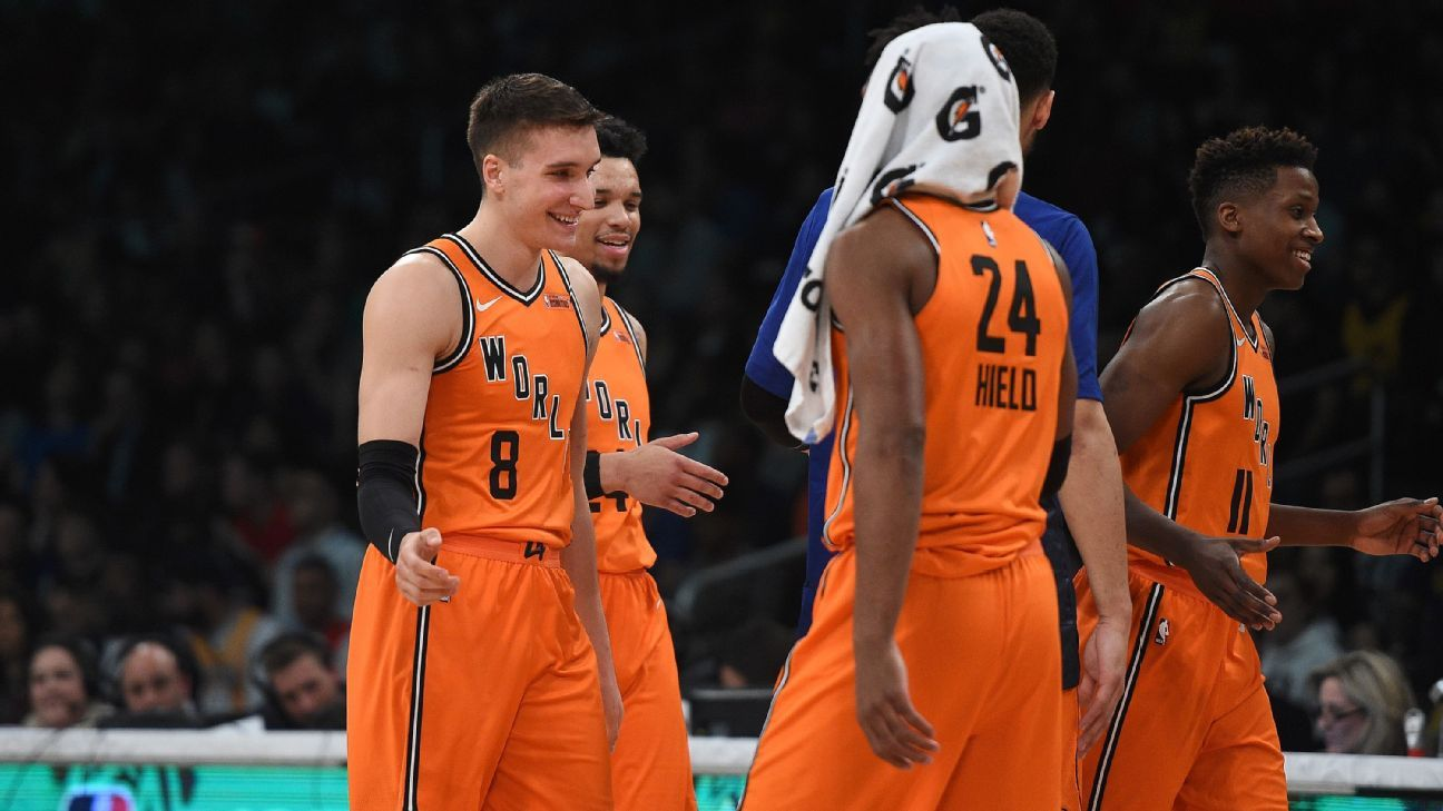 finest selection 919b8 b47af NBA All-Star 2018: Grading the Rising Stars Challenge Rosters
