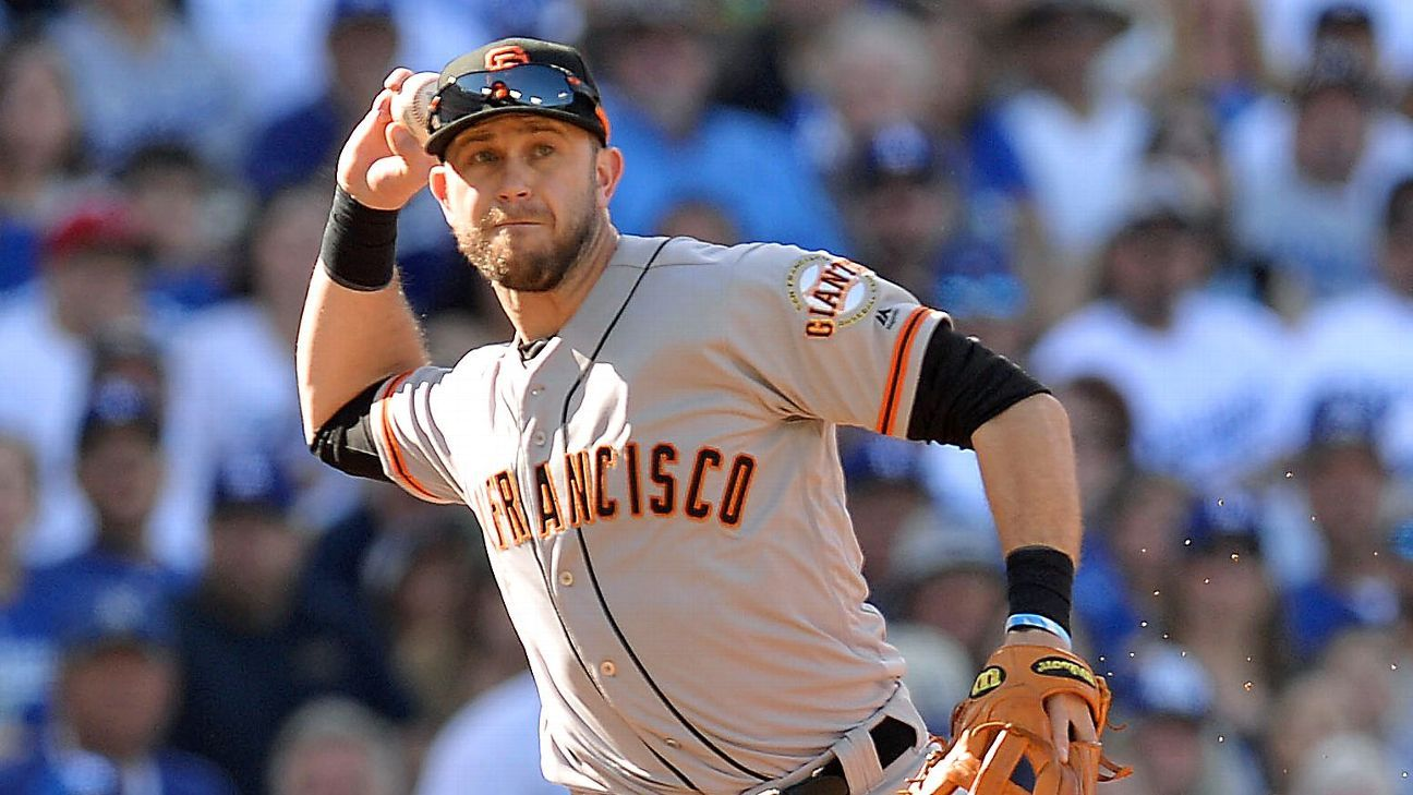 brand new 4e0de 3e414 Evan Longoria of San Francisco Giants expected to miss 6-8 ...