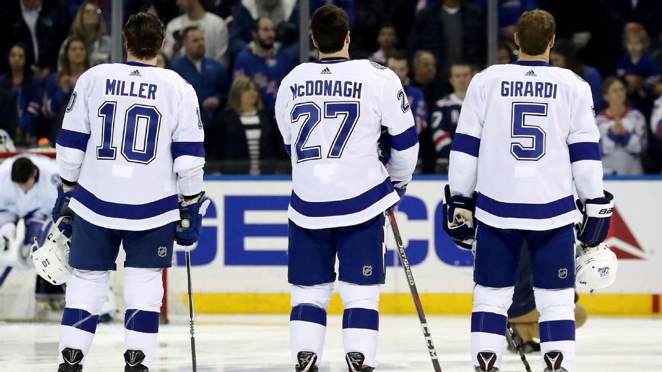 7d68448c289 NHL - Tampa Bay Lightning have traded, signed many New York Rangers in  quest for Stanley Cup