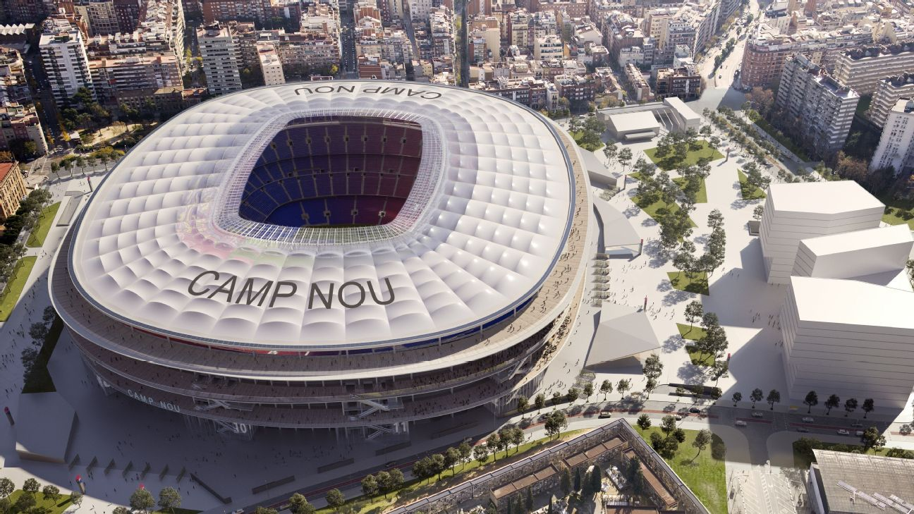 barcelona s camp nou renovation and expansion plans get go ahead from city camp nou renovation and expansion plans