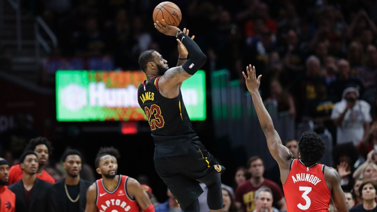 ee52a1fb82e3 A tiny oral history of Cleveland Cavaliers LeBron James  buzzer-beater against  Toronto